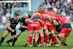Jocelino Suta of Toulon in action at a maul - Mandatory byline: Patrick Khachfe/JMP - 07966 386802 - 10/01/2016 - RUGBY UNION - Stade Mayol - Toulon, France - RC Toulon v Bath Rugby - European Rugby Champions Cup.