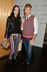 TISH WEINSTOCK and FLETCHER COWAN at the Louis Vuitton for Unicef Event #MAKEAPROMISE held at The Apartment, 17-20 New Bond Street, London on 14th January 2016.