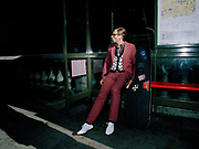 Man At Bus Stop
