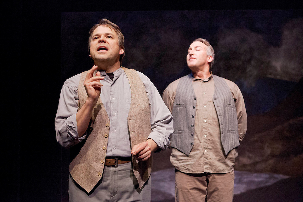 """Napa Valley Playhouse Presents """"Stones in His Pockets"""" by Marie Jones. A Co-Production with Shakespeare Napa Valley. Directed by Jennifer King. Photo © 2012 Mike Padua."""