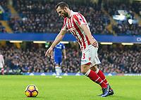 Football - 2016 / 2017 Premier League - Chelsea vs. Stoke City <br /> <br /> Erik Pieters of Stoke City at Stamford Bridge.<br /> <br /> COLORSPORT/DANIEL BEARHAM