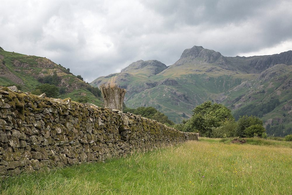 A view of the Great Langdale Valley in the English Lake District