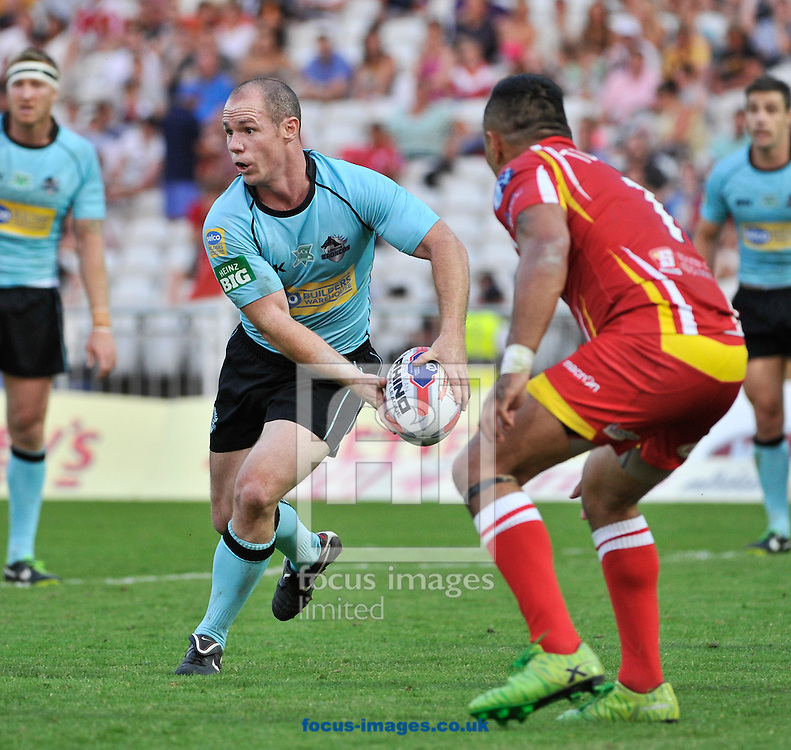 Picture by Richard Land/Focus Images Ltd +44 7713 507003<br /> 12/07/2013<br /> Ben Fisher of London Broncos in action during the Tetley's Challenge Cup match at Don Valley Stadium, Sheffield .