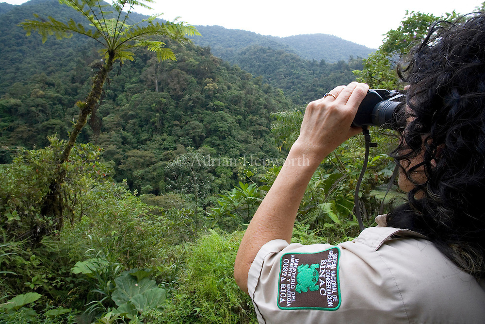 Park Ranger in Tapanti National Park, near Cartago, Costa Rica.<br />