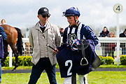 Ragnar ridden by Jason Watson and trained by Daniele Camuffo in the F45 Bath Training Guaranteed Results Handicap race.  - Ryan Hiscott/JMP - 06/05/2019 - PR - Bath Racecourse- Bath, England - Kids Takeover Day - Monday 6th April 2019