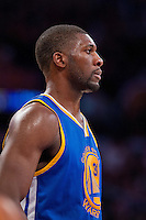 09 November 2012: Center (31) Festus Ezeli of the Golden State Warriors against the Los Angeles Lakers during the first half of the Lakers 101-77 victory over the Warriors at the STAPLES Center in Los Angeles, CA.