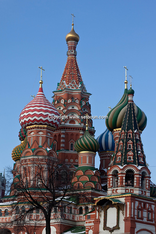 Basileus cathedral on red square, Moskow Russia /// la cathedrale saint basile sur la place rouge, Moscou Russie