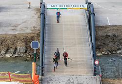 22.03.2018, Pichl-Preunegg bei Schladming, AUT, Red Bull Der lange Weg, Überquerung Alpenhauptkamm, längste Skitour der Welt, im Bild vorne v. l. Philipp Reiter (GER), David Wallmann (AUT), temporärer Begleiter Toni Pilz (AUT), hinten Bernhard Hug (SUI) // during the Red Bull Der lange Weg, crossing of the main ridge of the Alps, longest ski tour of the world, in Pichl-Preunegg near Schladming, Austria on 2018/03/22. EXPA Pictures © 2018, PhotoCredit: EXPA/ Martin Huber