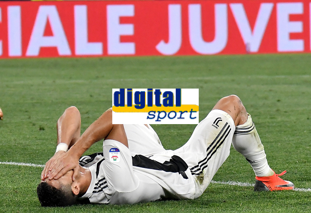 Dejection of Cristiano Ronaldo of Juventus  during the Serie A 2018/2019 football match between Juventus and Genoa CFC at Allianz Stadium, Turin, October, 20, 2018 <br />  Foto Andrea Staccioli / Insidefoto