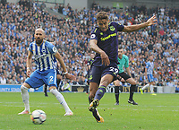 Football - 2017 / 2018 Premier League - Brighton & Hove Albion vs. Everton<br /> <br /> Dominic Calvert - Lewin of Everton comes close to winning the match in the dying minutes at The Amex.<br /> <br /> COLORSPORT/ANDREW COWIE