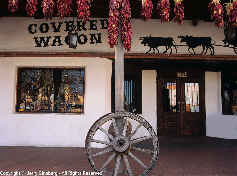 General store and traditional ristras in Old Town Albuquerque, NM.