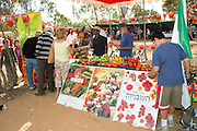 Israel, Negev, Eshkol Region, The tomato festival October 2005. Vegetable stall