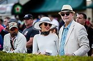 HALLANDALE BEACH, FL - JANUARY 27: Fans at the Pegasus World Cup Invitational at Gulfstream Park Race Track on January 27, 2018 in Hallandale Beach, Florida. (Photo by Alex Evers/Eclipse Sportswire/Getty Images)