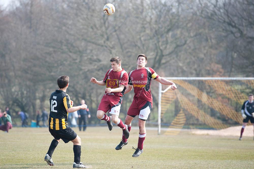 University of Sheffield v Sheffield Hallam football 4 (men) at Norton Playing Fields, Sheffield. Result 1-1