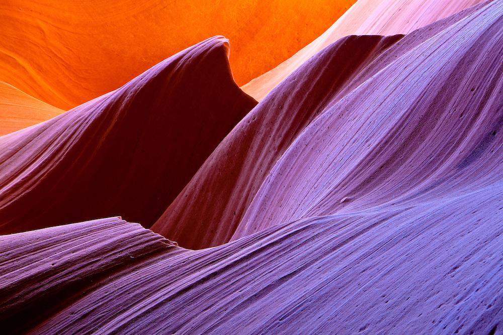 Cotton Candy. Lower Antelope Canyon, a slot canyon near Page, Arizona.