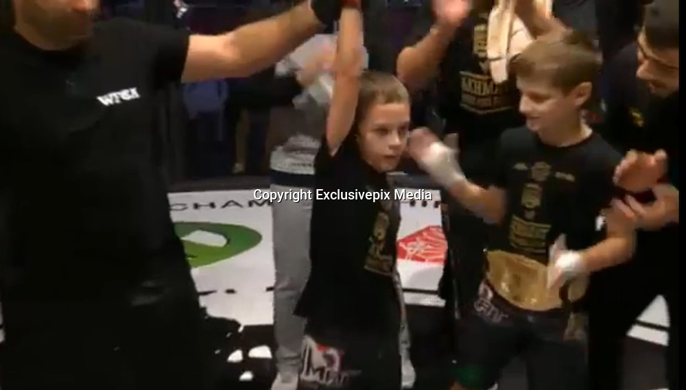 Russia Facing Controversy Over Underage Kids Fighting MMA On Television!<br /> <br /> Chechen leader Ramzan Kadyrov is in hot water after Mixed Martial Arts bouts featuring children aged eight, nine, and 10 were broadcast on Russian TV on Tuesday, with Kadyrov watching his own kids as they took part. Kadyrov's sons – Akhmad, Eli and Adam – all won their individual.<br /> Exclusivepix Media