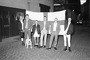 Skinheads with St George Flag, England, 1980s.