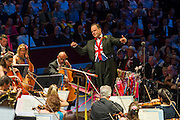 The Last Night of the BBC Proms at the Royal Albert Hall, London -  With the usual wide range of popular music including - a Mary Poppins medley, Ol Man River, the Sabre Dance, Rule Britannia, Pomp and Circumstance and Jerusalem. Performed by conductor, Sakari Oramo (pictured), the BBC Symphony Orchestra, Chorus and Singers with soloists including Ruthie Henshall. PRESS ASSOCIATION Photo. Picture date: Saturday September 13, 2014. Photo credit should read: Guy Bell/PA Wire