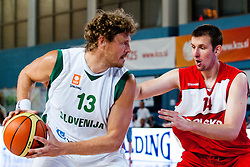 Miha Zupan of Slovenia vs Michal Gabinski of Poland at exhibition game between Slovenia and Poland for Primus Trophy 2011Lithuania as part of exhibition games before European Championship L2011on July 23, 2011, in Ljudski Vrt, Ptuj, Slovenia. (Photo by Matic Klansek Velej / Sportida)
