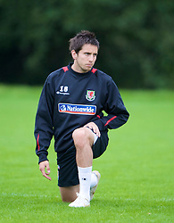 CARDIFF, WALES - Friday, September 5, 2008: Wales' Brian Stock during training at Vale of Glamorgan Hotel ahead of the second 2010 FIFA World Cup South Africa Qualifying Group 4 match against Russia. (Photo by David Rawcliffe/Propaganda)