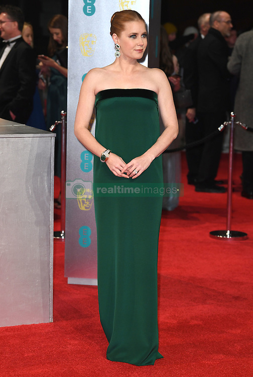 Amy Adams attending the EE British Academy Film Awards held at the Royal Albert Hall, Kensington Gore, Kensington, London. Picture date: Sunday February 12, 2017. Photo credit should read: Doug Peters/ EMPICS Entertainment