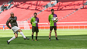Johan Cruijff ArenA, Amsterdam. FC Kensington vs FC Coen en Sander. Op de foto: Humberto Tan