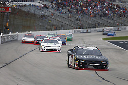 November 3, 2018 - Ft. Worth, Texas, United States of America - Shane Lee (3) battles for position during the O'Reilly Auto Parts Challenge at Texas Motor Speedway in Ft. Worth, Texas. (Credit Image: © Justin R. Noe Asp Inc/ASP via ZUMA Wire)