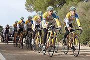 SPAIN / SPANJE / MALLORCA / CYCLING / WIELRENNEN / CYCLISME / CYCLOCROSS / VELDRIJDEN / TELENET FIDEA CYCLING TEAM / WINTERSTAGE / TRAINING CAMP / (L-R) QUINTEN HERMANS / TOM MEEUSEN / JENS VANDEKINDEREN / DAAN SOETE / THIJS AL / BEN BOETS /