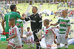 29.07.2015, PGE Arena, Gdansk, POL, Testspiel, OSP Lechia Gdansk vs Juventus Turin, im Bild GIANLUIGI BUFFON, LUKASZ BUDZILEK, BARTLOMIEJ PAWLOWSKI // during the International Friendly Football Match between OSP Lechia Gdansk and Juventus FC at the PGE Arena in Gdansk, Poland on 2015/07/29. EXPA Pictures © 2015, PhotoCredit: EXPA/ Newspix/ Lukasz Grochala<br /> <br /> *****ATTENTION - for AUT, SLO, CRO, SRB, BIH, MAZ, TUR, SUI, SWE only*****