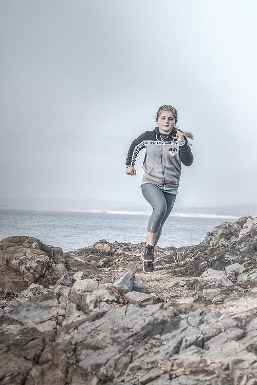 Running on rough terrain in California