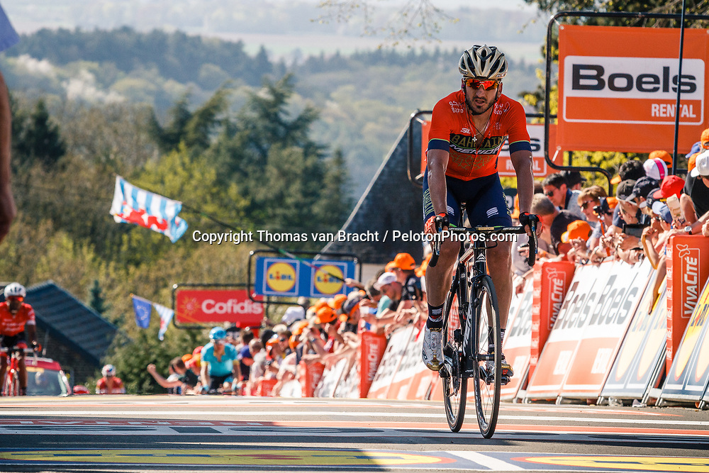 IZAGIRRE Gorka of Bahrain Merida Pro Cycling Team after the 2018 La Flèche Wallonne race, Huy, Belgium, 18 April 2018, Photo by Thomas van Bracht / PelotonPhotos.com | All photos usage must carry mandatory copyright credit (Peloton Photos | Thomas van Bracht)