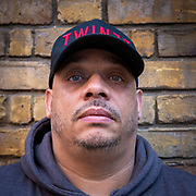 Former gang man Darryl Laycock has been shot 20 times, stabbed 7 times and has spent over 12 years in prison. Now a reformed man he works on knife prevention with youth projects across the UK. Photographed in London, United Kingdom on the 14th November 2018.  (photo by Andrew Aitchison / In pictures via Getty Images)