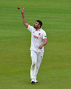 Ravi Bopara of Essex grabs the ball during the first day of the Specsavers County Champ Div 1 match between Hampshire County Cricket Club and Essex County Cricket Club at the Ageas Bowl, Southampton, United Kingdom on 5 April 2019.