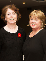 Mary Geoghegan and Enid McAleenay from Coole Voices who  performed  at Choir Factor in the Radisson Blu.<br /> Choir Factor is a fundraiser for The Sccul Sanctuary, Therapeutic Support Centre in Kilcornan Clarenbrdge.<br /> <br />  Photo:Andrew Downes, xposure.