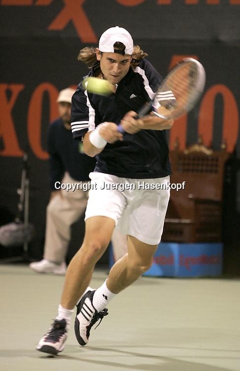 Qatar, Doha, ATP Tennis Turnier Qatar Open 2005, David Ferrer (ESP), 03.01.2005,<br />Foto: Juergen Hasenkopf