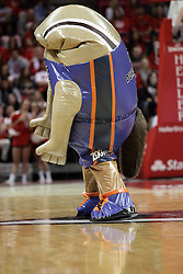 05 December 2015: Zooperstar Kevin Duranteater sucks in his snout. Illinois State Redbirds host the University of Alabama - Birmingham Blazers at Redbird Arena in Normal Illinois (Photo by Alan Look)