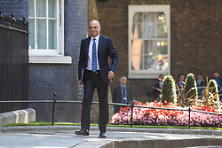 © Licensed to London News Pictures. 23/07/2019. London, UK. Home Secretary Sajid Javid arrives on Downing Street for the final Cabinet meeting under Prime Minister Theresa May. The result of the Conservative Party leadership contest will be announced this morning. Photo credit: Rob Pinney/LNP