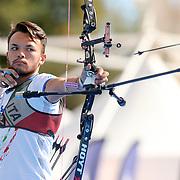 Roma 03/09/2017 Stadio dei Marmi<br /> Hyundai Archery World Cup - Finale<br /> Finale Ricurvo Uomini<br /> l'italiano David Pasqualucci