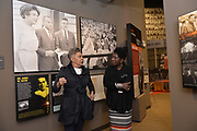 Photo ©Suzi Altman 12/5/17 Jackson,MS Pamela D.C. Junior, Director of the Mississippi Civil Rights Museum, left,  gives Judy Meredith, James Meredith's  wife a private tour of the museum before its official opening on Saturday Dec. 9th. President Trump is expected to attend the opening of the Mississippi Civiil Rights and History Museums. Protests are planned in response to President Trumps announced attendance of the opening of the Civil Rights Museum. Photo©SuziAltman