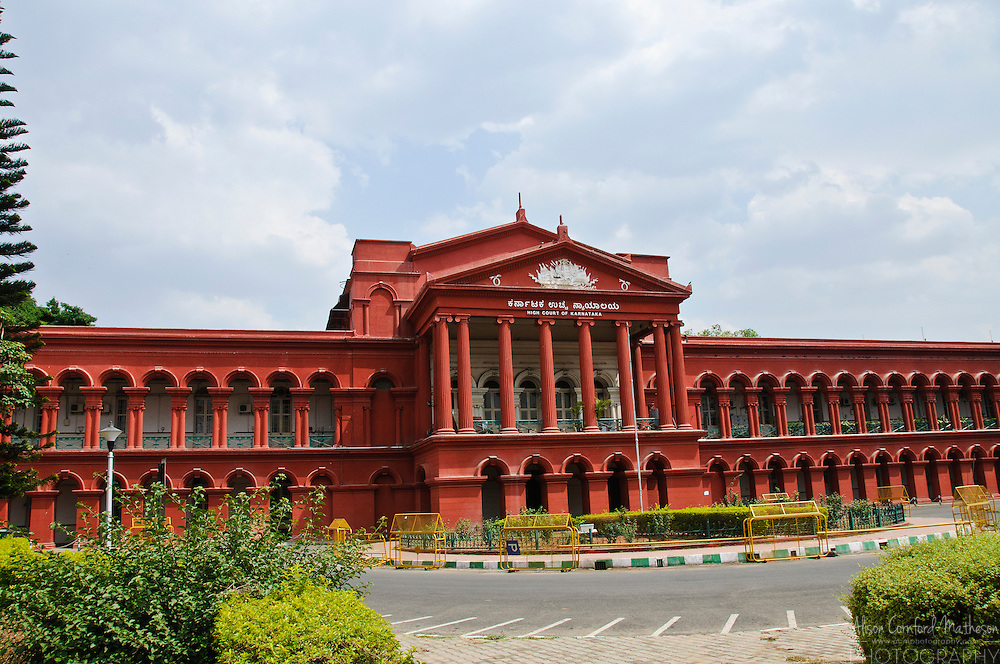 The Karnataka High Court Building in Bangalore, India, near Cubbon Park.