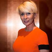 NLD/Amsterdam/20140308 - Modeshow Mart Visser 2014 S/S, monique des Bouvrie