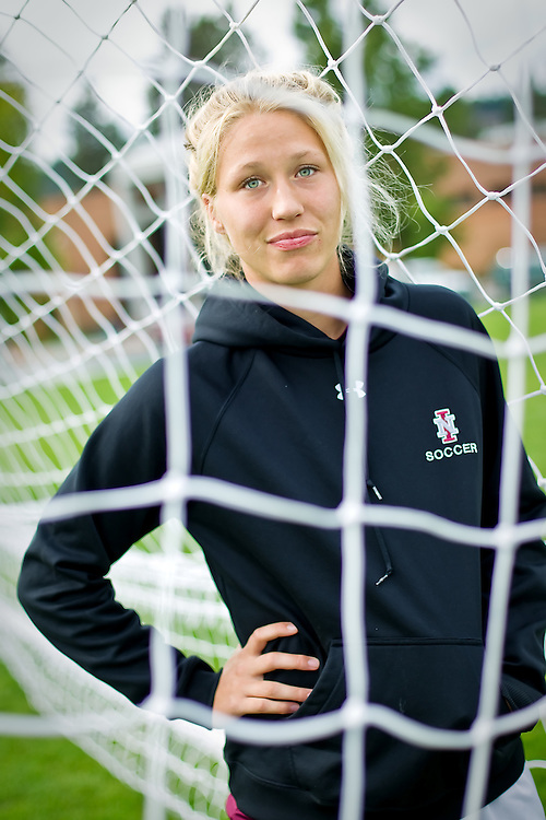 Charlie Evans has started every match since joining the NIC women's soccer team in 2009.