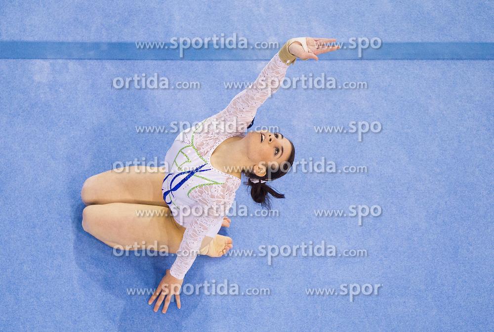 Sasa Golob of Slovenia competes in the Floor Exercise during Final day 2 of Artistic Gymnastics World Cup Ljubljana, on April 27, 2013, in Hala Tivoli, Ljubljana, Slovenia. (Photo By Vid Ponikvar / Sportida.com)