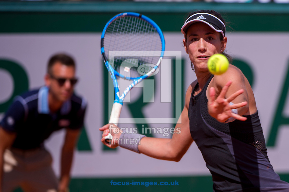 Garbi&ntilde;e Muguruza on Day Twelve of the ATP French Open Tennis Championship 2018 at Roland Garros, Paris<br /> Picture by EXPA Pictures/Focus Images Ltd 07814482222<br /> 07/06/2018<br /> *** UK &amp; IRELAND ONLY ***<br /> <br /> EXPA-THI-180607-0140.jpg