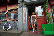 Ines Brunn, owner of the Natooke Fixed Gear Bike shop in Beijing and co-founder of China's Smarter than Car project -- Beijing Bike Culture -- 2011 Tour of Beijing Scouting Photos