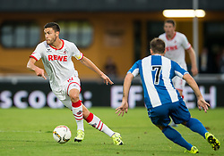 22.07.2015, Grenzland Stadion, Kufstein, AUT, Testspiel, 1. FC Köln vs RCD Espanyol Barcelona, im Bild v.l. Jonas Hector (1. FC Koeln), Franciso Montanas Clavarias (Espanyol Barcelona) // during the International Friendly Football Match between 1. FC Cologne and RCD Espanyol Barcelona at the Grenzland Stadion in Kufstein, Austria on 2015/07/22. EXPA Pictures © 2015, PhotoCredit: EXPA/ Johann Groder