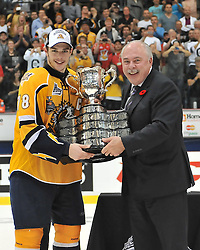 The Shawinigan Cataractes defeated the London Knights 2-1 at 17:51 of the first overtime period to capture the 2012 MasterCard Memorial Cup on Sunday May 27, 2012. Photo by Terry Wilson / CHL Images.