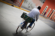 Cycling on the Street in Cholula