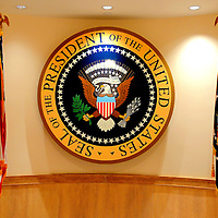 Presidential Seal at John F. Kennedy Presidential Library and Museum in Boston, Massachusetts<br />