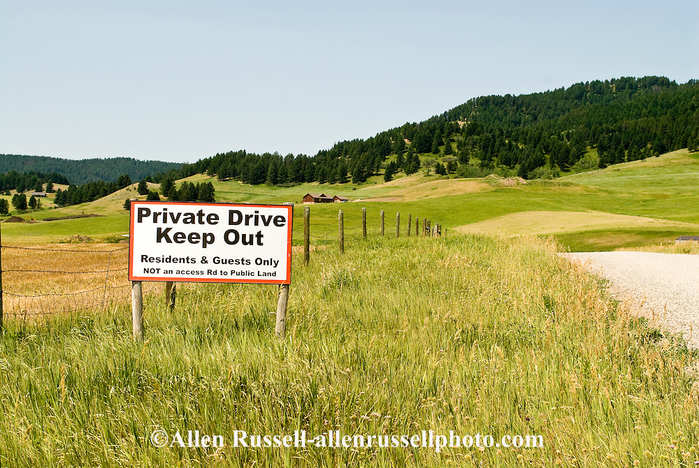 Private Property Sign, Park County, Montana